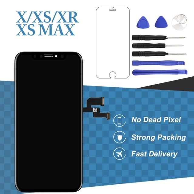 Dla iphone X XS Max XR ekran wyświetlacza LCD dla Tianma AMOLED OEM Digitizer z zespół ekranu dotykowego dla iphone X ekran LCD