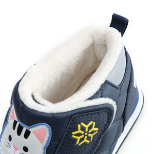 Image 5 - Kids winter boots late autumn boot little girl boy short style warm shoe fur insole cute animal pate design colorful free shippi