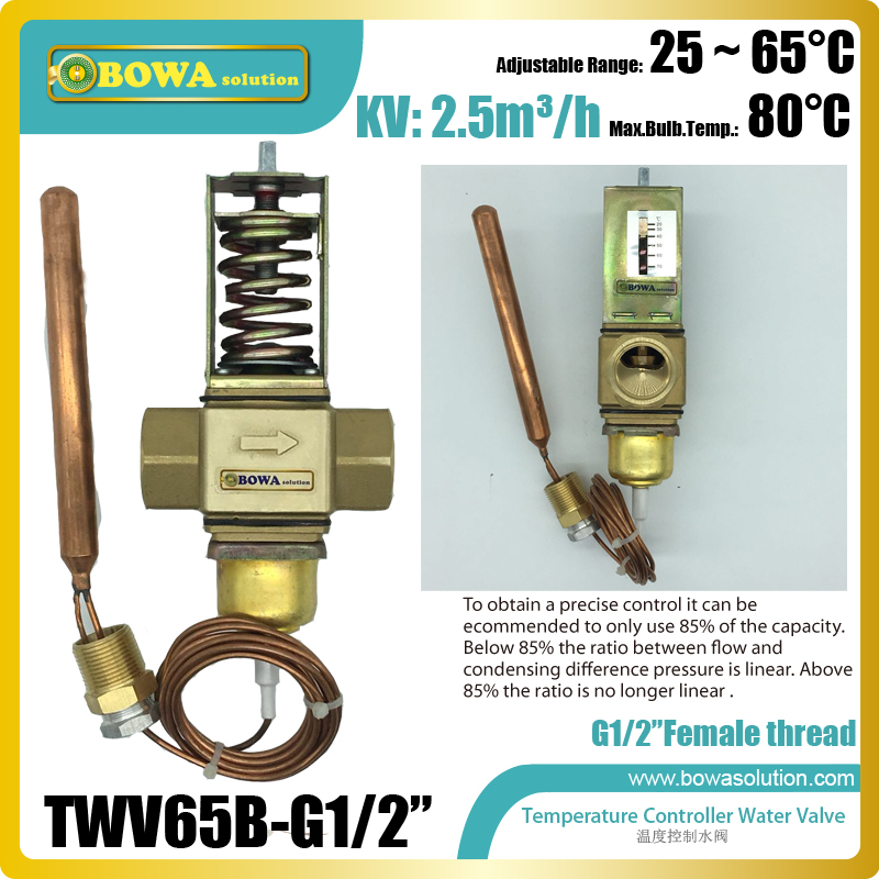 Thermo. operated water valve can be installed in either the cooling water flow line or the return line, replace AVTA valves