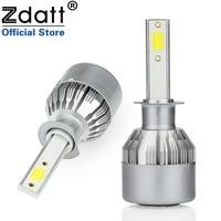 Zdatt 2Pcs Super Bright H1 Led Bulb 72W 7600Lm Headlights H3 H4 H7 H8 H9 H11