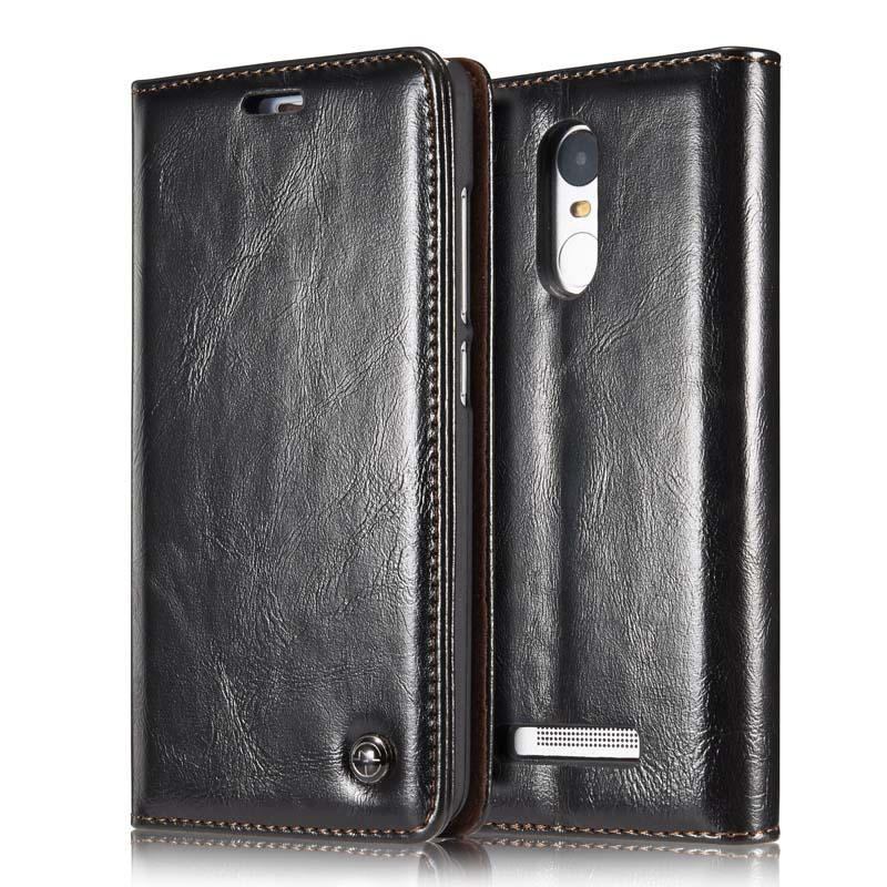 Magnetic Auto Flip Original Phone Cases Luxury Genuine Leather Wallet Case Accessories Phone Case For Xiaomi Redmi Note 3 JS0381