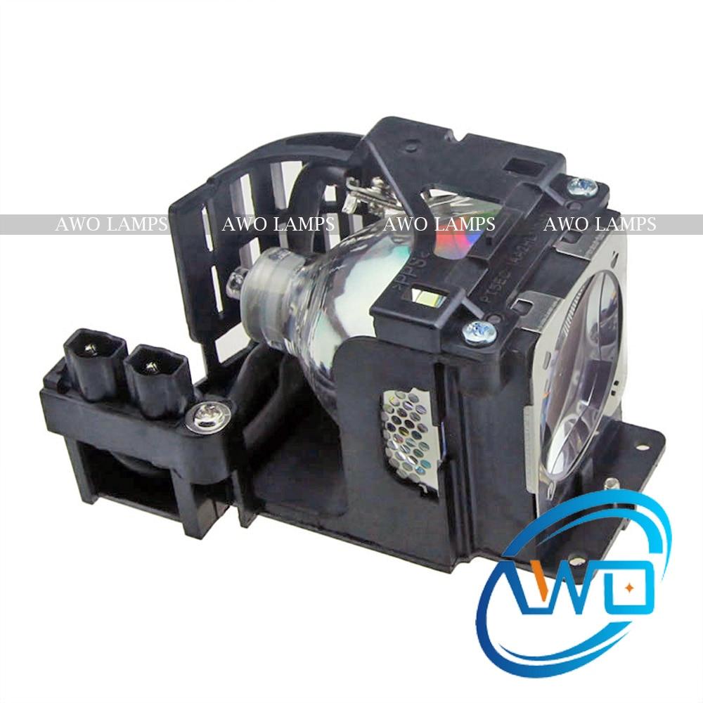 AWO Ersatzprojektorlampe POA-LMP106 mit Käfig für SANYO PLC-WXE45 / WXE46 / WXL46 / XE45 / XL45 / XU74 / XU84 / E85 / EIKI LC-XB24 / XB29N