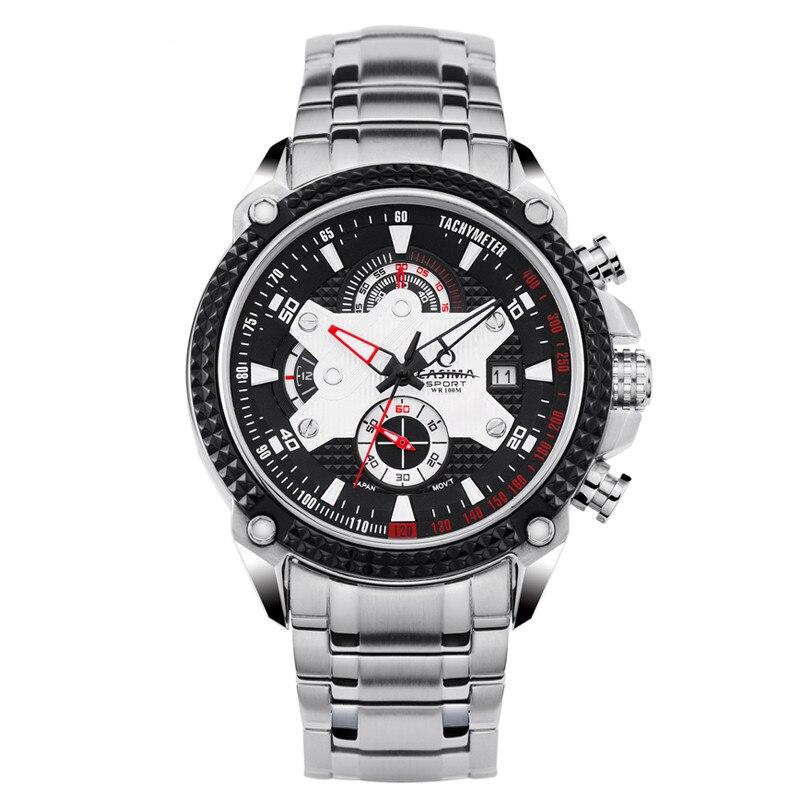 Men watches Sport Fashion Luxury Elegance quartz watch silicone strap Multi-function luminous waterproof 100m CASIMA  #8207 цена и фото