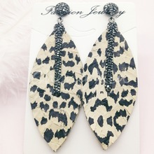2019 new earring natural snakeskin earrings mixed color  jewelry