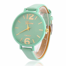 2017 New Fashion Brand Geneva watch women luxury watches Women Faux Leather Analog Quartz Wrist Watch Relogio feminino Gift 2017 new fashion women watch pu leather bracelet watch casual women wristwatch luxury brand quartz watch relogio feminino gift