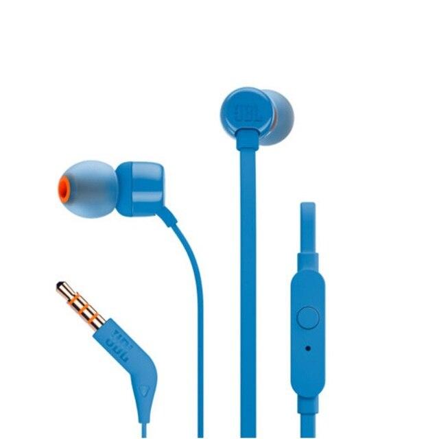 JBL T110 słuchawki douszne zdalne z mikrofonem Sport muzyka czysty bas dźwięk zestaw słuchawkowy dla leagoo s9 iPhone Smartphone przenośny