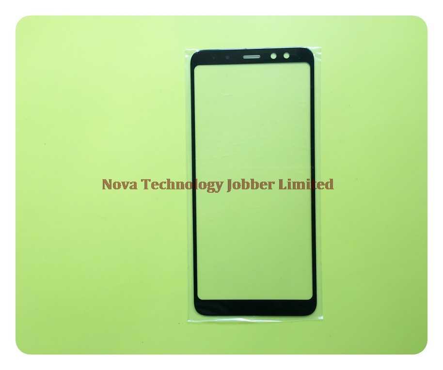 Wyieno Top Nero Dello Schermo di Vetro Per Samsung A8 2018 A530 A530F Obiettivo di Vetro Esterno Pannello Frontale (Non touch Screen sensore) + inseguimento