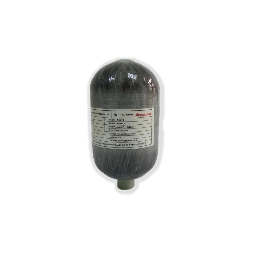 AC5020 Pcp Air Rifle Compressed 2L CE 4500spi Scuba Mini Air Paintball Tank Carbon Fiber Cylinder