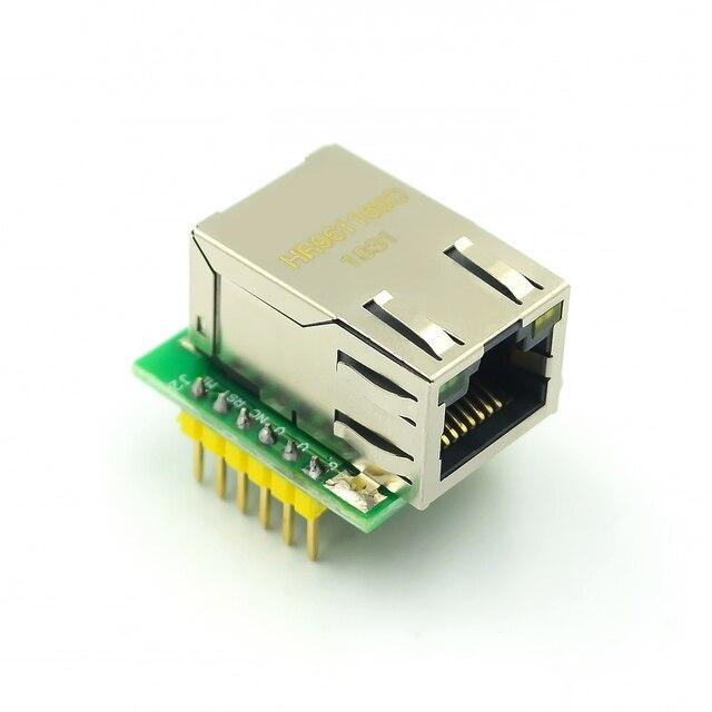 5PCS/LOT USR ES1 W5500 Chip New SPI to LAN/ Ethernet Converter TCP/IP Mod