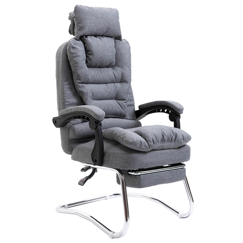 Office Chair Home Fabric Leisure Computer Office Boss Chair Chair Massage Bow Foot Massage Function Recliner Silla Oficina