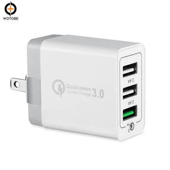 WOTOBE [ QC 3.0 + 2 USB ] Fast Wall Charger 3 Ports mobile phone charger Quick Charging Qualcomm Qucik Charge 3.0 Travel meizu mu11 36w dual usb ports fast charging travel charger
