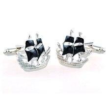 Men Jewelry Cufflinks for men's sailing ship Design cufflinks shirt cuffs gemelos Button cufflinks gift,Free Shipping