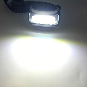 Image 5 - ZK20 Dropshopping Mini светодиодный налобный светильник COB 600 лм, налобный фонарь, фонарь с 3 батареями ААА, фонарь для кемпинга, походов, рыбалки