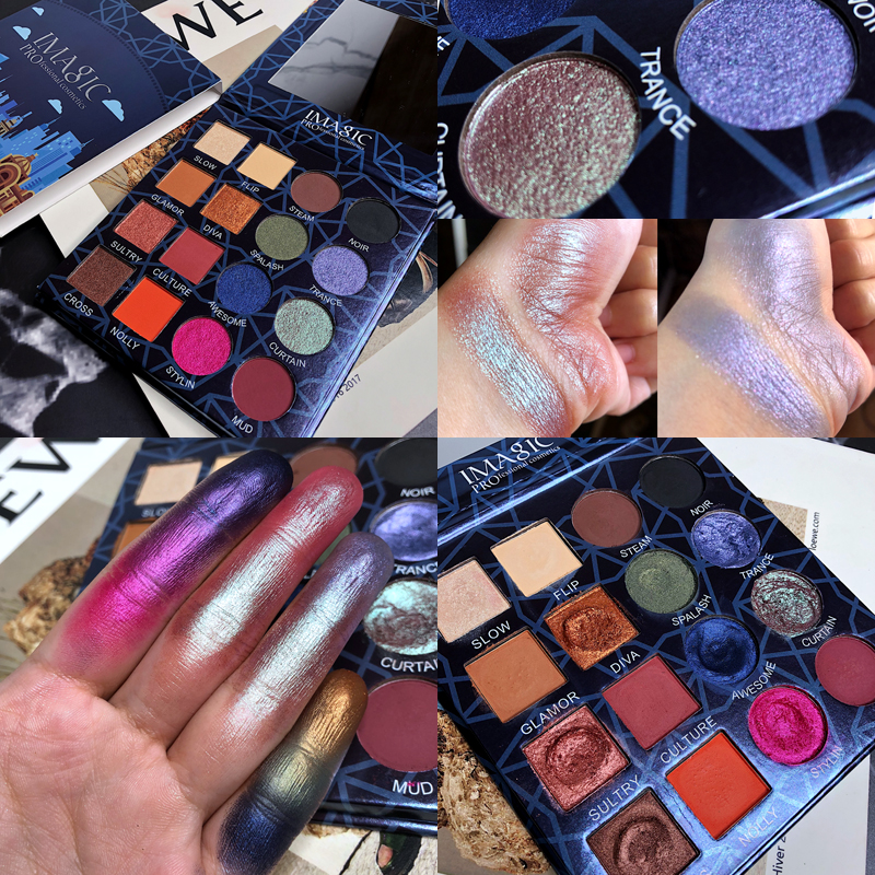 16 видов цветов Палитра теней для век, макияж, тени для век, матовые мерцающие блестящие пигментированные дымчатые косметические тени для век, палитра теней|Тени для век|   | АлиЭкспресс