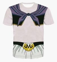 Anime Dragon Ball Z Super Saiyan t shirts Cute Majin Buu t shirts Men Women Summer Casual tee shirts Funny DBZ t shirt tees