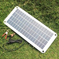 20W Solar Panel 12V to 5V Battery Charger USB for Car Boat Caravan Power Supply AI88