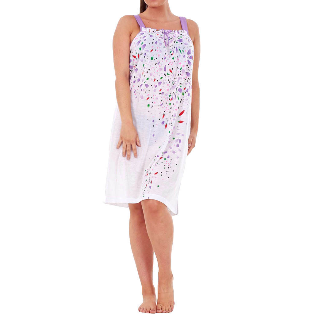 Women nightdress women's summer sleeveless nightwear floral nightdress female home service new plus size nightdress  2019
