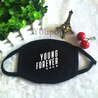 KPOP BTS Bangtan Boys 2016 Young Forever Album K-POP Black Dust Cotton Face Mask Masque KZ002
