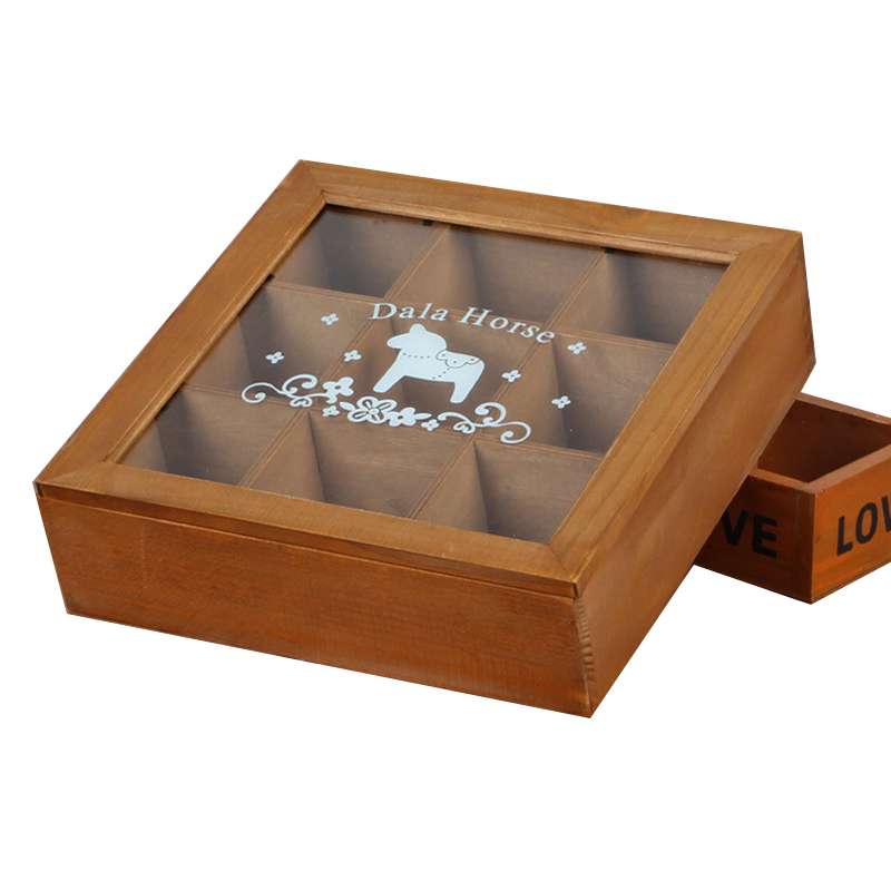 Antique Wooden Table Storage Box Crafts Sundries Container Cosmetics Organizer Jewelry Simple Storage Rack Home Decoration Gifts