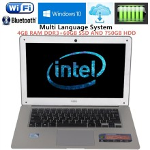 1920 1080P FHD 14 1 laptops windows7 10 PC Computer In tel N3520 2 16GHZ Quad