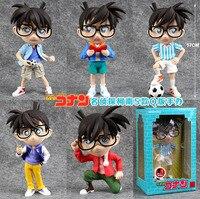 """Spedizione gratuita 5 pz 7 """"detective conan anime edogawa conan 17 cm boxed action pvc figure collection model toy (5 pz per set)"""