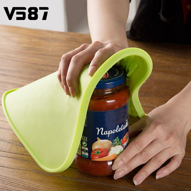 Can Opener Non-slip Mat Silicone Pot Mat Holder Heat Resistant Table Placemat Kitchen Sink Dishes Cup Dry Coaster Placemat