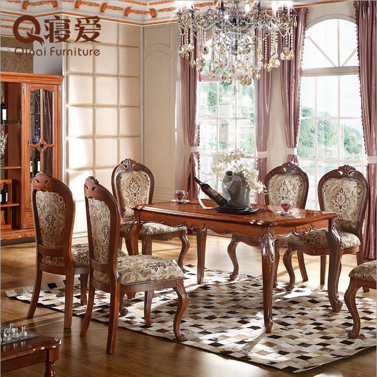 Modern Fabric Chair Dining Table Set