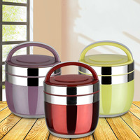 Japanese style student 2 layer food box portable stainless steel insulated lunch box food container ZP01231457