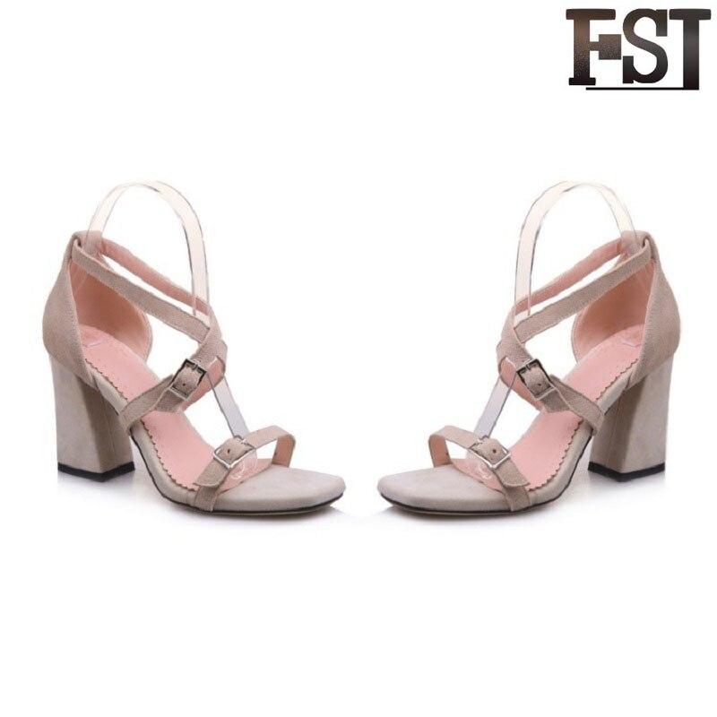 Fsj fsj01 Casual Moda Sandalias Vaca fsj03 Fiesta Zapatos De Verano Cuero Gladiador Hebilla La Correa Genuino Frente Trasera Mujer Fsj02 rF6Urfw