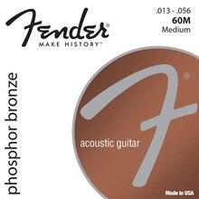 Fender Phosphor Bronze Acoustic Guitar Strings, 60XL 60CL 60L 60M