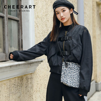 Cheerart Vintage Women Jacket Aviator Army Green Jacket Baseball Jacket Women Autumn Spring Short Jacket Clothing