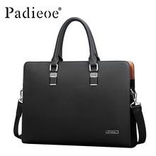 Padieoe Brand best quality genuine real cow leather messenger bags luxury business men's briefcases bag black  handbags man 51Z
