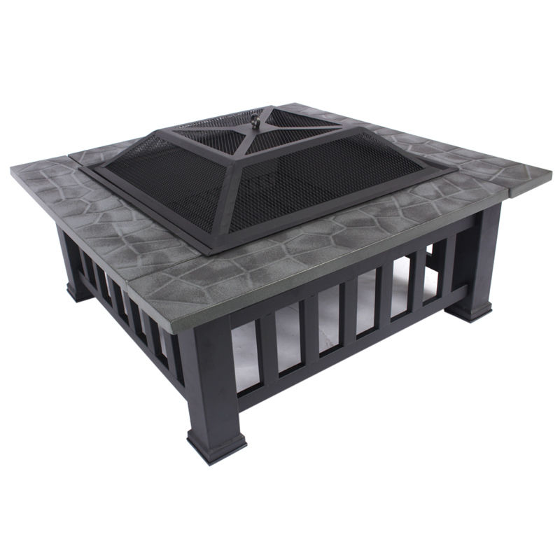 Hot Fire Pit BBQ Table Home Outside BBQ Table Grill Garden Patio Home  Camping Heater Fireplace Brazier