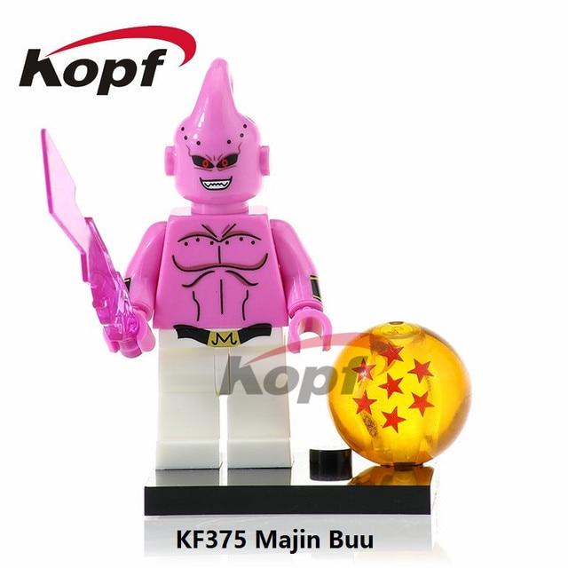 Single Sale Super Heroes Dragon Ball Z Figures Majin Buu Bulma Vegeta Goku  Master Roshi Building Blocks Toys for children KF375 d27df8d2374d