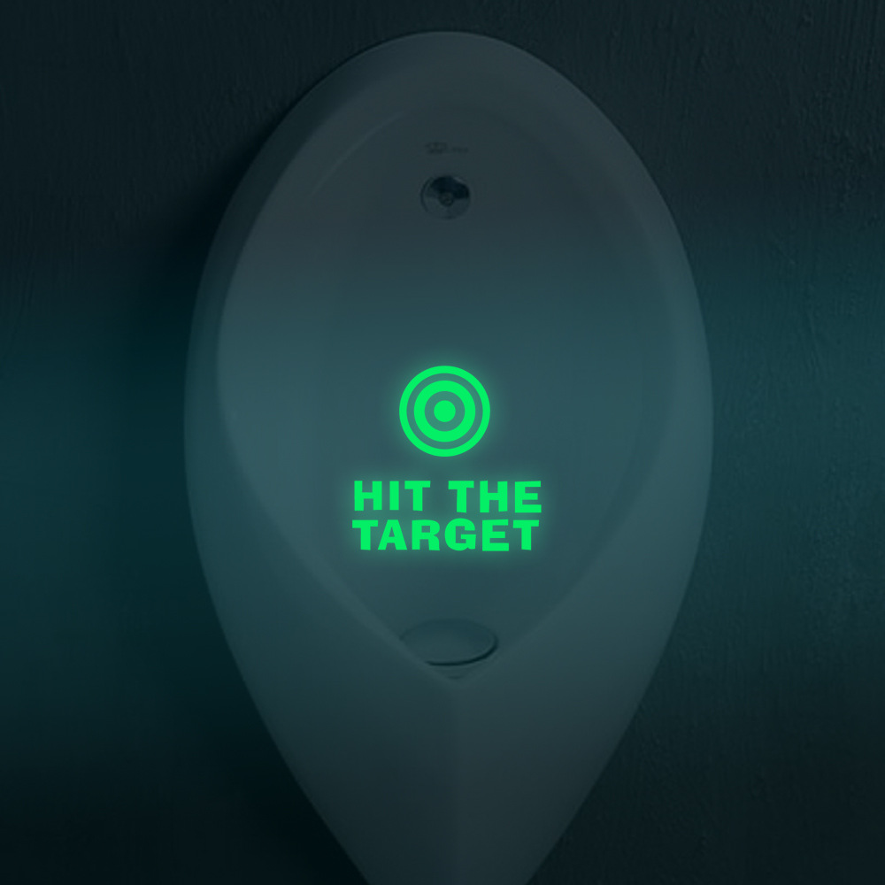 Hit The Target Bathroom Luminous Toilet Stickers Glow In The Dark WC Wall Stickers Home Decor Adesivo De Parede