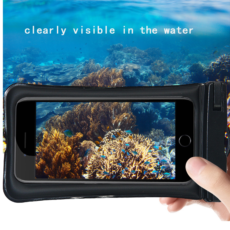 Купить с кэшбэком Universal Waterproof Phone case For iPhone X 8 7 6 5 Swimming phone case Bag Pouch For Phone 6 Float Airbag Bag