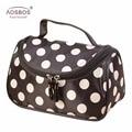 Aosbos Fashion Women Dot Professional Cosmetic Bags Large Capacity Portable Toiletry Bag Zipper Storage Travel Bags for Women