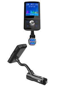 Bluetooth Handsfree Car Kit FM Transmitter 360 rotatable Car MP3 Audio 1.8 Screen
