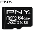 PNY Micro SD Card 32GB Class 10 U1 16GB 128GB 64GB 8GB Memory Card Micro SDXC SDHC UHS-1 U1 TF Flash Memory Card 64GB MAX 90MB/S