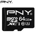 Pny 100% genuino clase 10 u1 tf tarjeta sd micro 32 gb 16 gb 128 GB 64 GB 8 GB Micro SDHC SDXC UHS-1 U1 Tarjeta de Memoria Flash de 64 GB 90 MB/S
