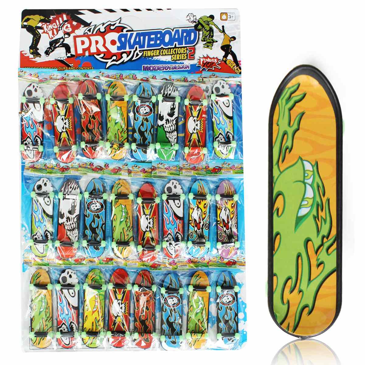24pcs/Pack Fingerboards Finger Board Deck Skateboard 3.94 Mini Kids Games Toys