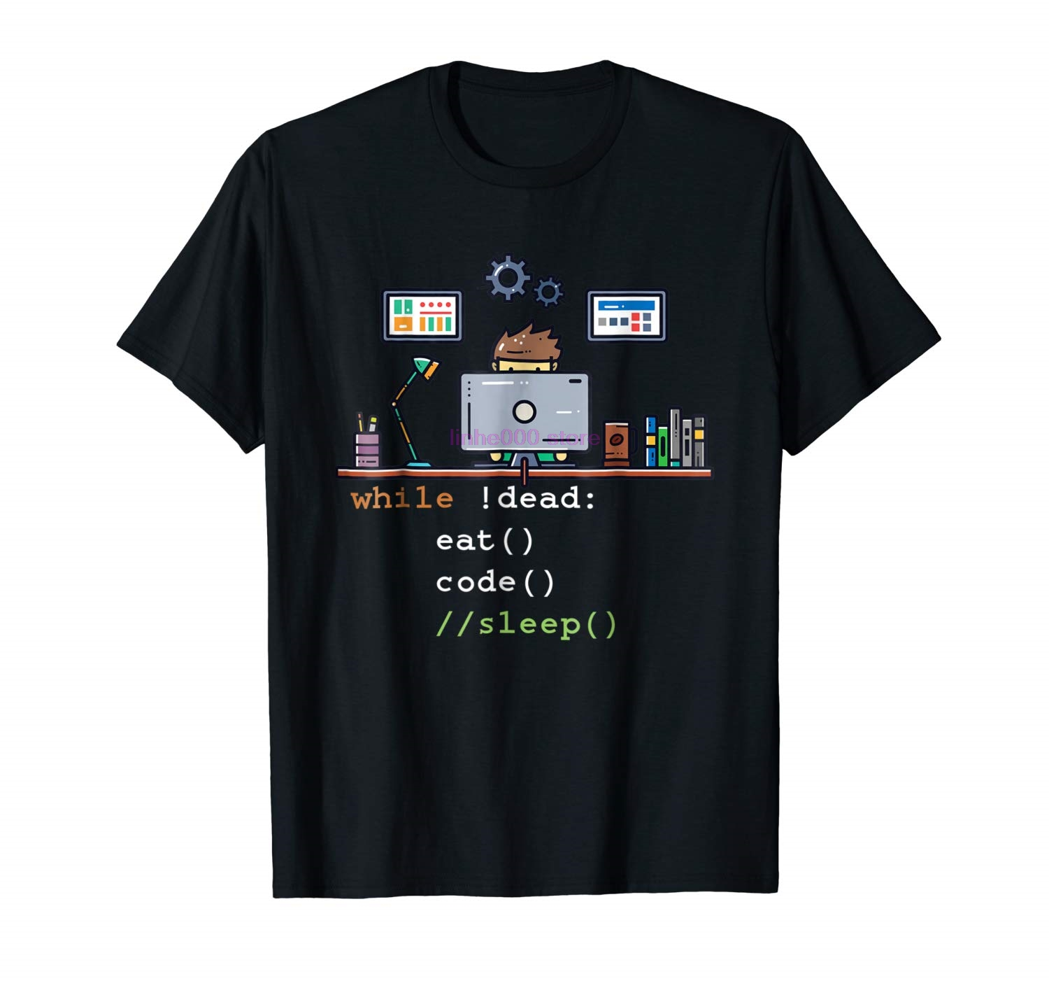 GILDAN brand men   shirt   Computer Science Python Programmer Eat Code Sleep   T     Shirt