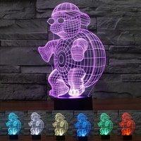 Lovely Cartoon Cool The Tortoise With Sunglasses Big Duck China Panda Heart Bear LED Visual Table