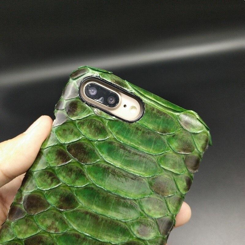 Solque Роскошь кожи питона кожаный чехол для iPhone 7 Plus телефон случаях натуральный змея ультра тонкий жесткий 3D охватывает