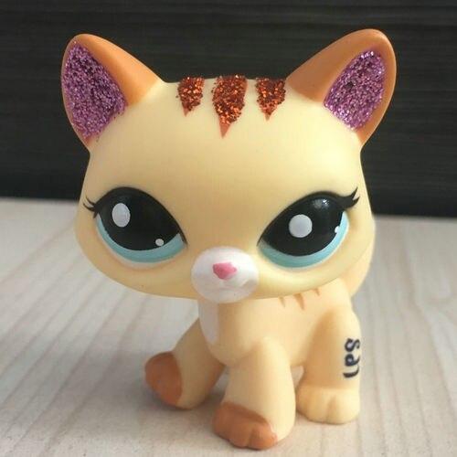 żółty Sparkle Uszy Włosy Krótkie Kot Kitty Lps Chihuahua Kolekcja