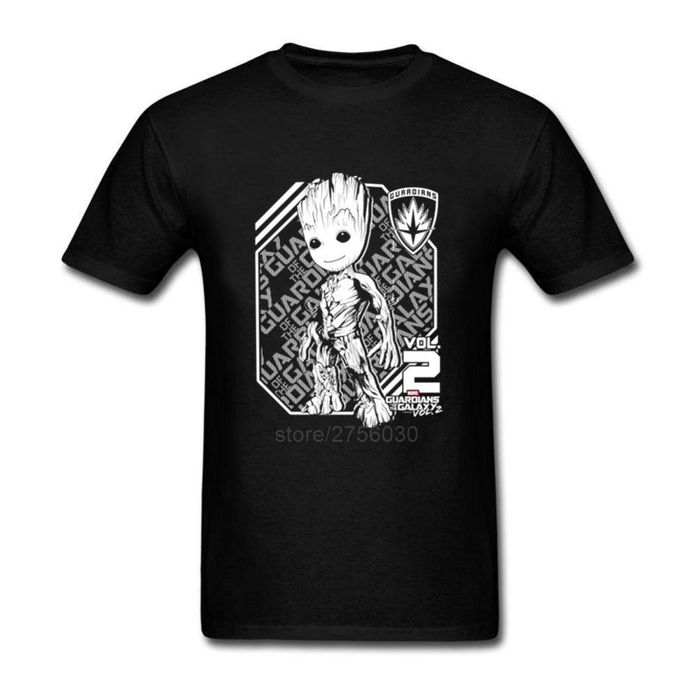 Tee Tops Clothing Mens Tree Guardians Of The Galaxy Anime T Shirts Short Sleeve Tees Shirt Funny 100% Cotton Cool Tees