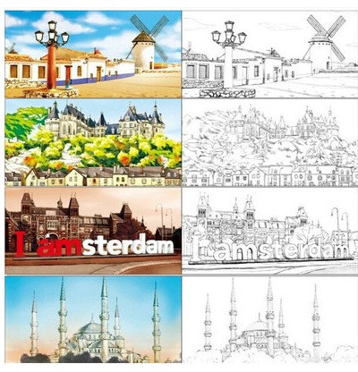 The Travel To Mind Colouring Book Secret Garden Style Coloring ...