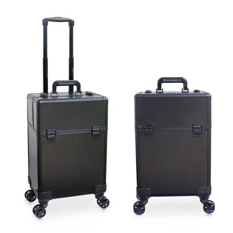 c50db71a319f Cosmetic Case luggage profession suitcase for makeup Trolley Box Beauty  professional Luggage travel Cosmetic Bag Universal Wheel