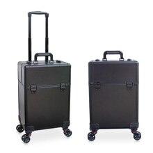 72086753f Caso cosmético equipaje profesión maleta para maquillaje carro Caja  Profesional de la belleza de equipaje de