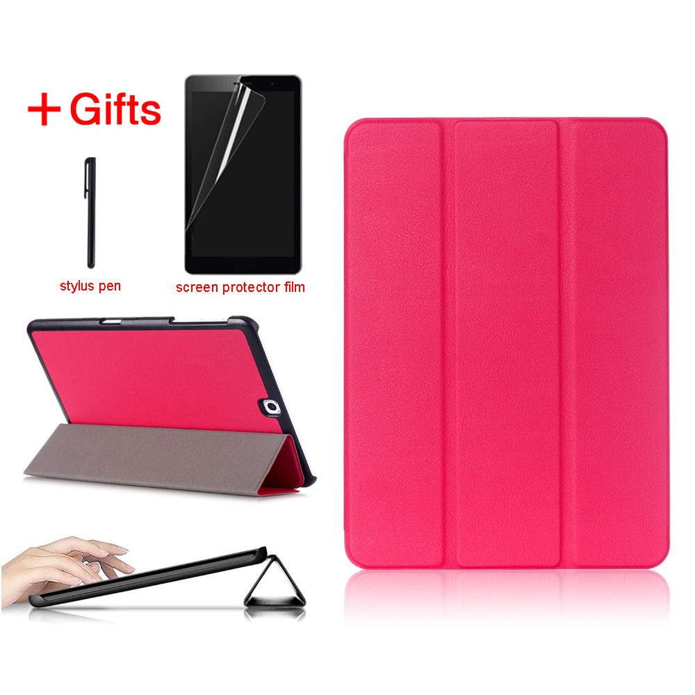 все цены на PU Leather Case For Samsung Galaxy Tab S2 9.7 Folding Case Cover for Samsung Tab S2 9.7 SM-T815 T810 T813 T819 tablet case онлайн